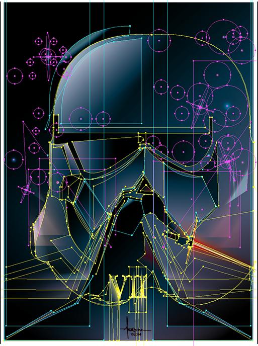 vector Starwars lucas jedi stormtrooper VII