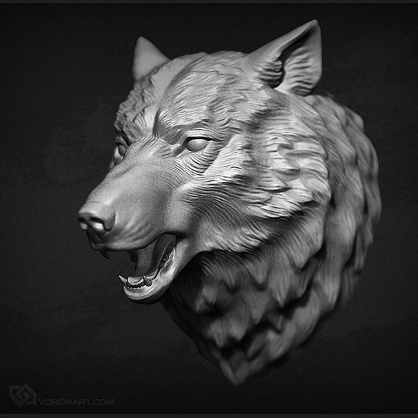 Wolf Head Scilpture On Behance