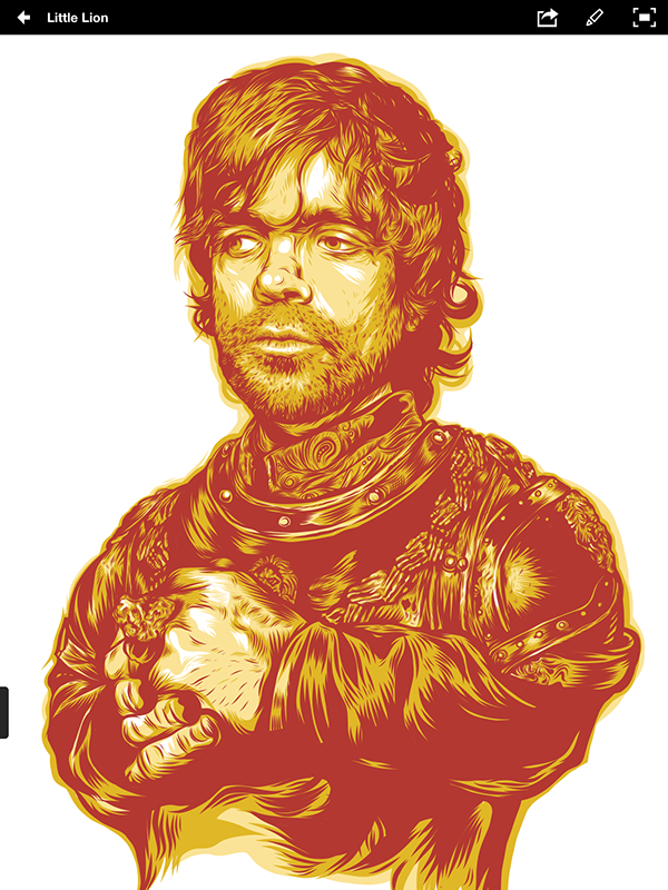 Tyrion Illustration with Nomad Mini 2 av Brian Yap