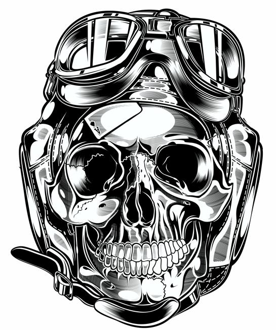 Skull Piston Drawing Skull Pistons Harley