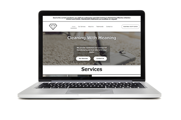 CleaningwithMeaning Website Design and Build