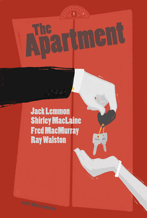 The apartment movie poster on behance for The apartment cast