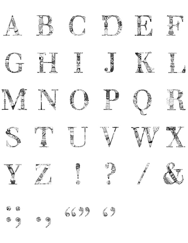 Custom hand-drawn Typeface Couturier corcoran