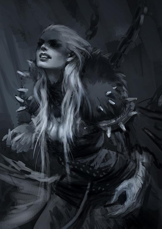 Personal Illustrations: Dark Elves on Behance