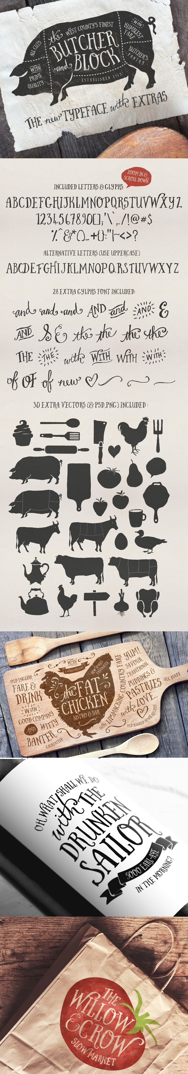 Butcher And Block Font  Extras On Behance