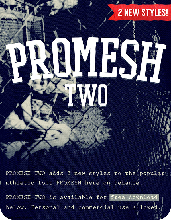PROMESH TWO - A Free Athletic Font on Behance