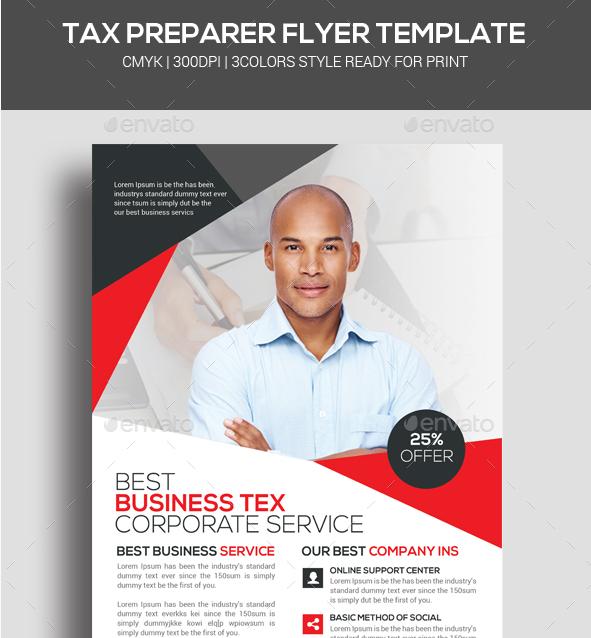 Tax Preparer Flyer Template on Behance