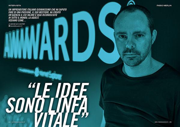 Uomo&Manager webmagazine Francesco Mazzenga illustrazione Design editoriale progetto grafico