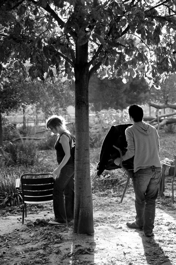 Paris black and white shadow light
