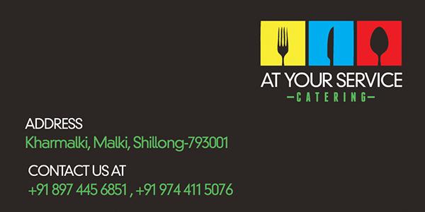 At your service business card design on wacom gallery at your service catering business card design back design colourmoves