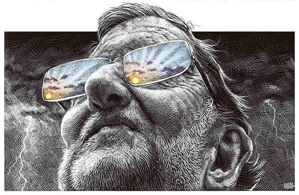 scratchboard el mundo newspaper editorial caricatures sarcasm conceptual