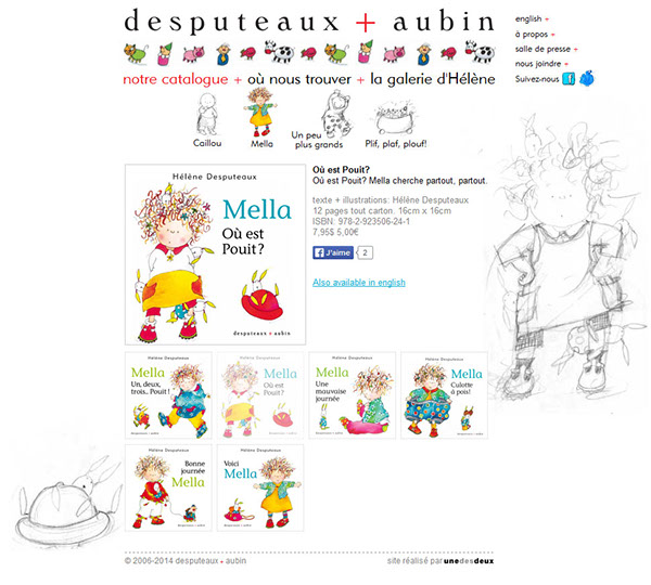 desputeaux+aubin littérature jeunesse Mella Caillou Michel Aubin Hélène Desputeaux