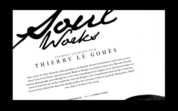 Thierry Le Gou S In Modern Design Magazine On Behance