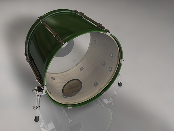 Cinema 4D Bass Drum Renders on Behance