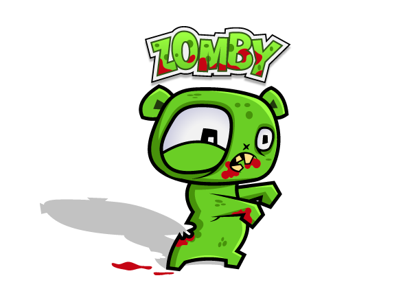 Character vector deisgn Mascot monsters iPhone Game iPad Game logo mobile colorful zombie guffy old sleepy cartoon t-shirt dirt Anger funny