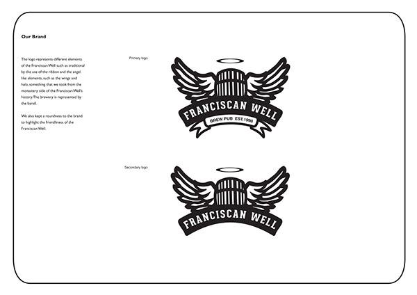 Franciscan Well  brewery rebranding stationary logo