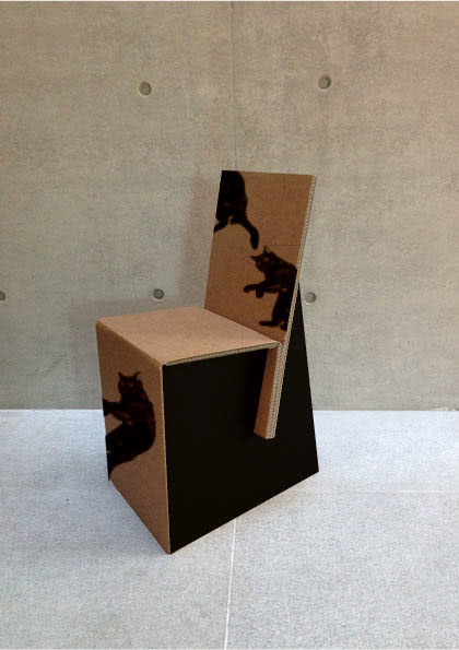 Chairs Made Of Recycled Cardboard On Pantone Canvas Gallery