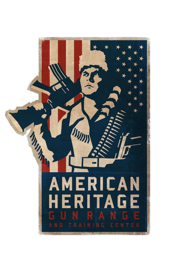 Daniel Boone Logo Design American Heritage Gun Range