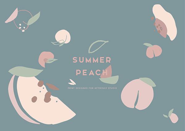 print & pattern : summer peach