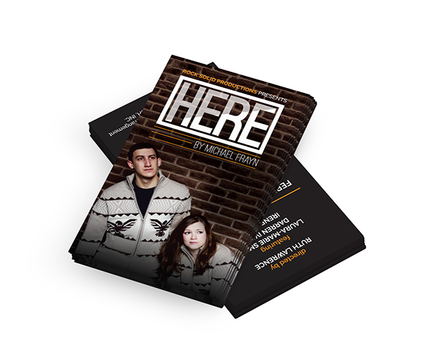 poster business card promo card Theatre