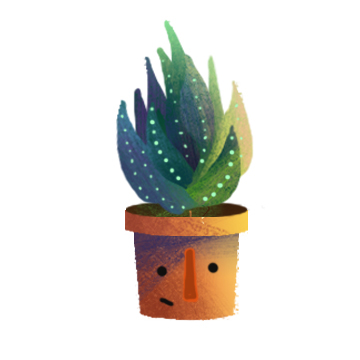 plants succlents art poster