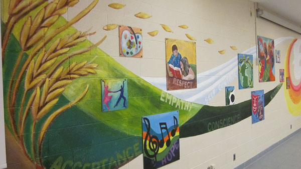 Our St Joan Of Arc School Community Was Very Pleased And Impressed With The  Entire Process That Stephanie Followed To Create An Amazing Mural, ... Part 46