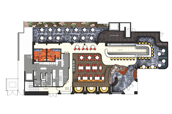 Restaurant Nightclub Design Fenh on 3d Restaurant Layouts Floor Plan