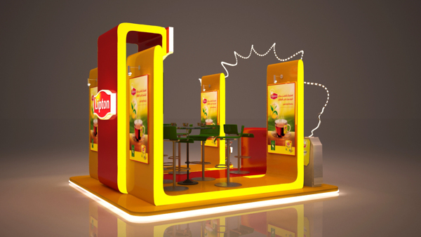 D Max Exhibition Stand Tutorial : Lipton booth on behance