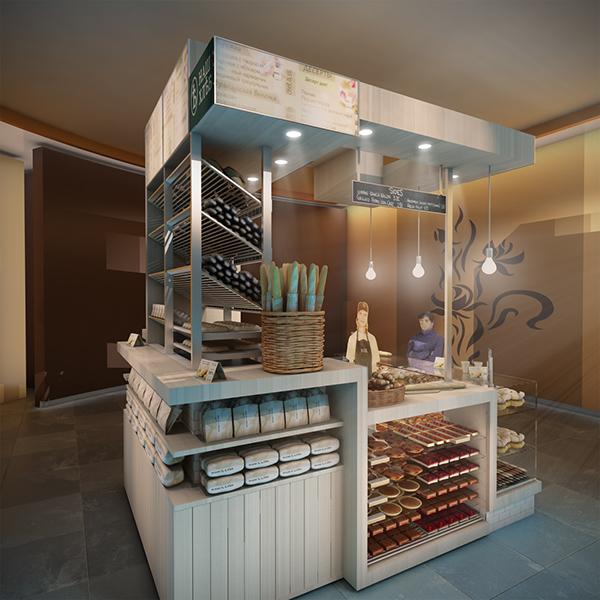 Concept for a mini bakery kiosk in moscow on behance for Garden kiosk designs