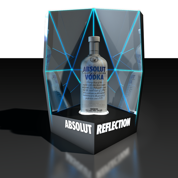 Vodka Display bar alcohol beverage Point of Sale Point of Purchase Brand awareness nightclub