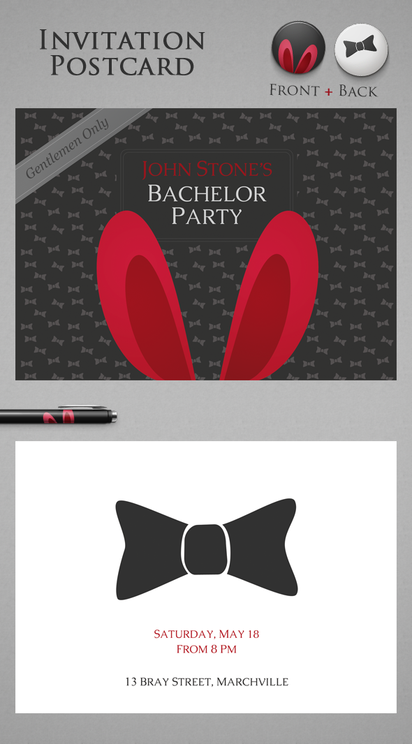 FREE Bachelor Party Invitation on Behance