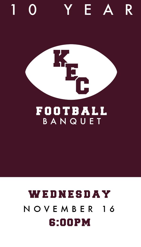 10 year kec football banquet ticket design on behance