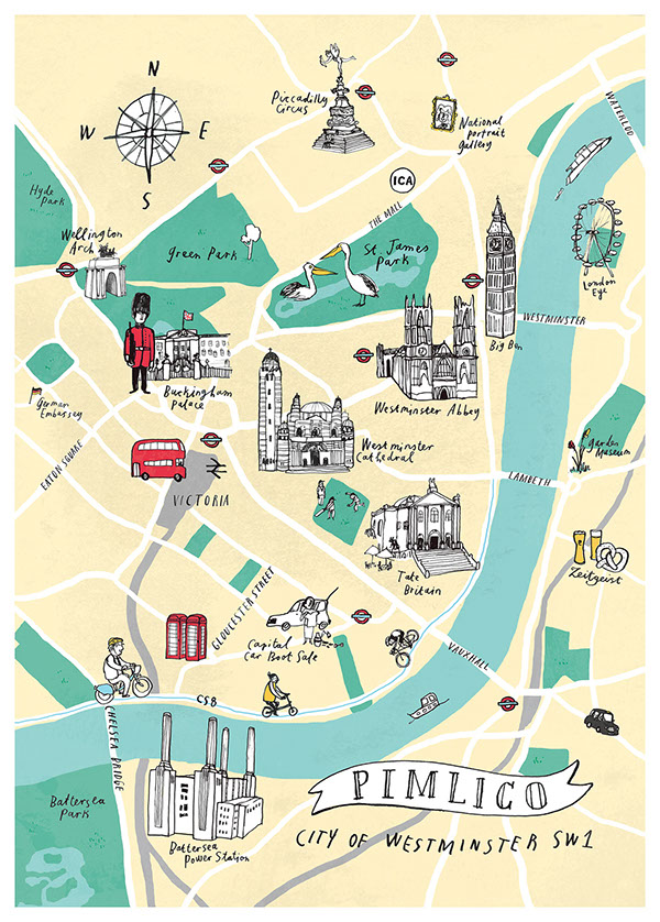 Pimlico London Map.Map Of Pimlico London On Behance