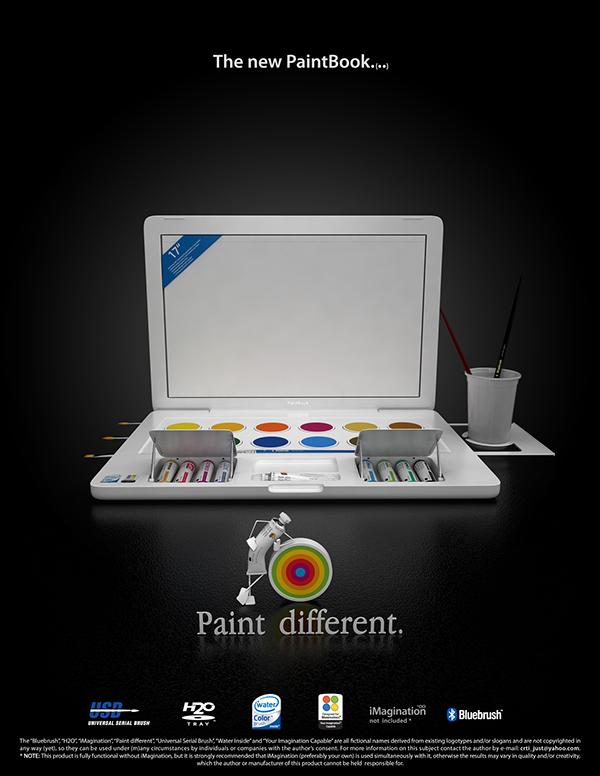 Paintbook apple brush notebook watercolors macbook
