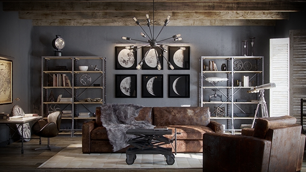 Amazing Restoration Hardware   Living Room On Behance