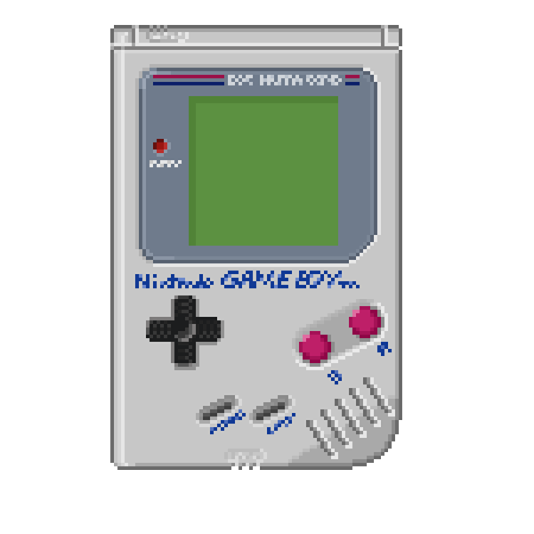 Gameboy, pixel art by Olivier Huard