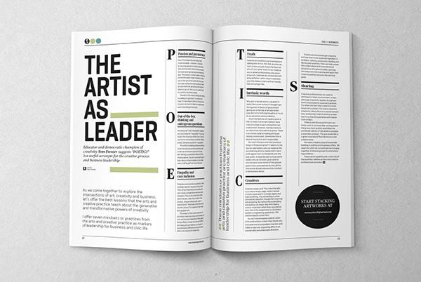 Artworks journal 01 editorial design art direction on behance - Design journal magazine ...