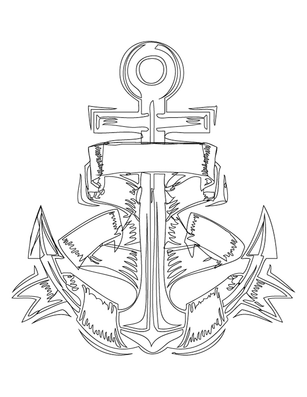 Anchor Heart Drawing Draw Out my Anchor Design in