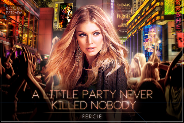 fergie a little party never killed nobody on behance. Black Bedroom Furniture Sets. Home Design Ideas