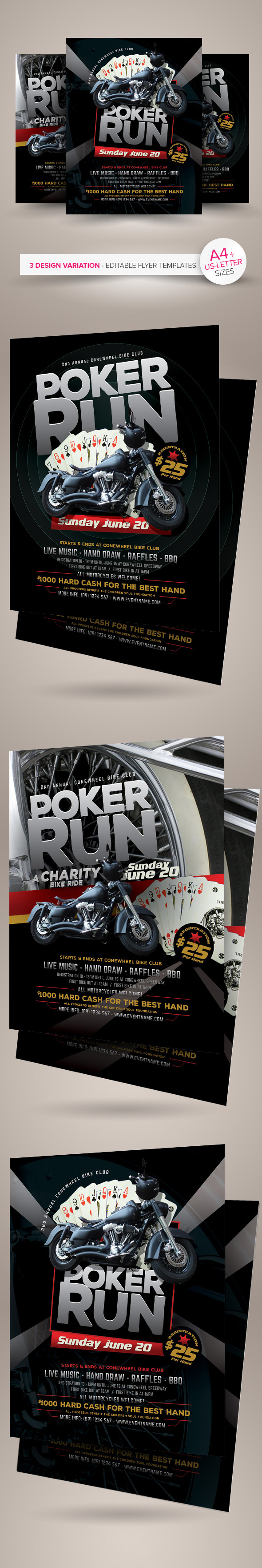 poker run flyer templates on behance poker run flyer templates are fully editable design templates created for on graphic river more info of the templates and how to get the sourcefile