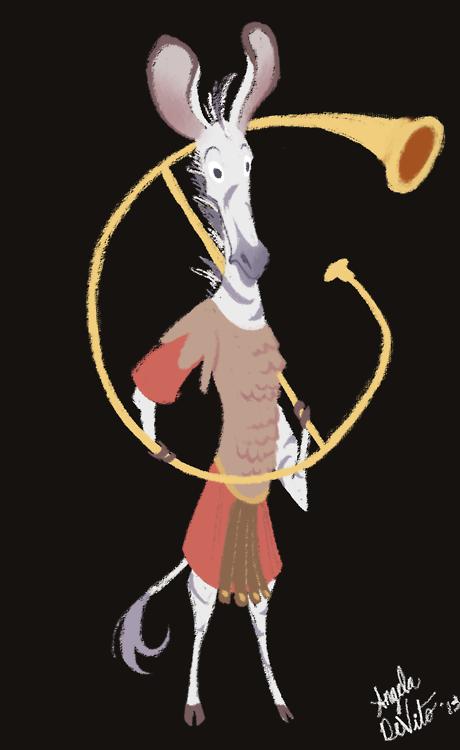 Zebra Character Design : Roman zebra character design on sva portfolios