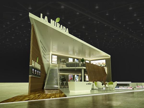 Exhibition Stand Design Egypt : Exhibition design la mirada booth cityscape cairo on