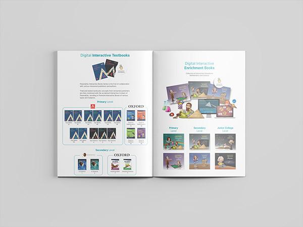 Pesona Edu's company profile and product catalogue books inside view that shows PesonaEdu's products