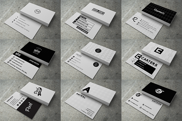 30 modern business cards for sale on pantone canvas gallery a collection of 30 modern professional busines cards highly customizable with a variety of unique designs available here for purchase creative market reheart Gallery