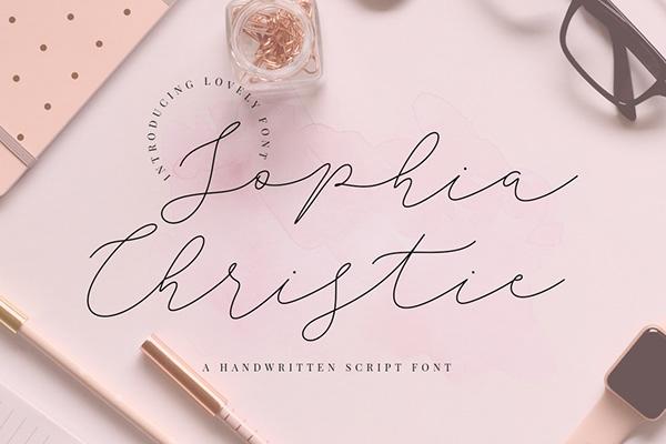 SOPHIA CHRISTIE - 100% FREE SCRIPT FONT on Pantone Canvas Gallery
