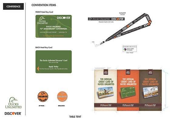Ducks Unlimited-Discover credit card on Behance