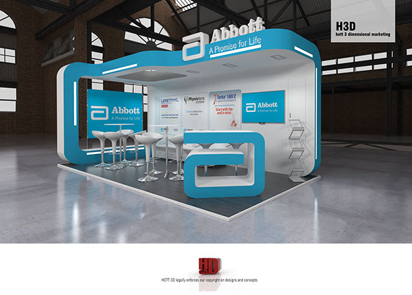 Modern Exhibition Stall Design : Abbott laboratories sa heart congress on behance