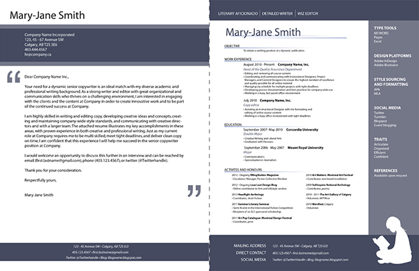 freelance resume design creative resume design
