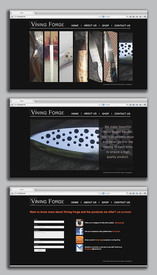Vining Forge Website