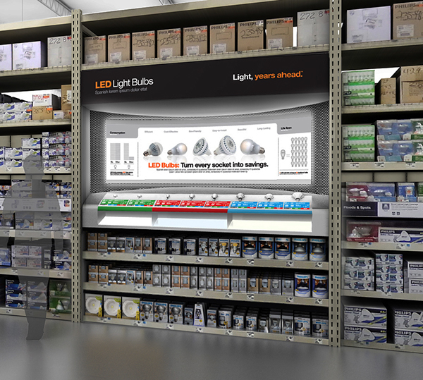 Exhibition Stand Lighting Home Depot : Home depot led on behance